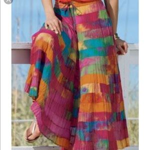 Chadwick's Boho Tie-Dye Festival Skirt